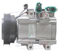 ECLIMA 121040X - COMPRESOR HCC HS18 HYUNDAI-KIA PV6 125MM 12V